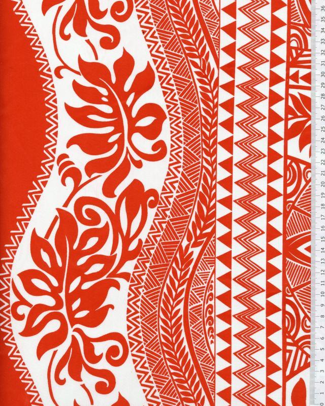 Polynesian Fabric EIMEO Coral - Tissushop