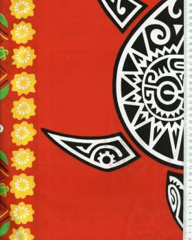 Tissu Polynésien MAHITI Rouge - Tissushop