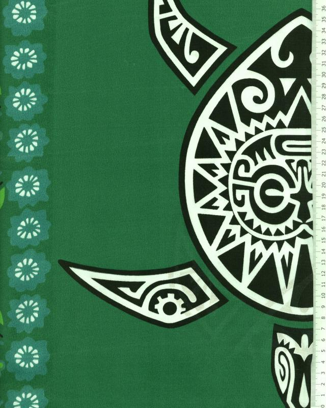 Polynesian Fabric MAHITI Green - Tissushop