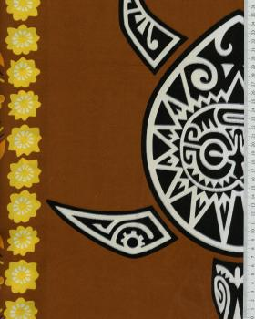 Polynesian Fabric MAHITI Brown - Tissushop