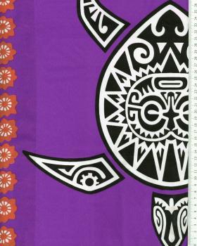 Tissu Polynésien MAHITI Violet - Tissushop