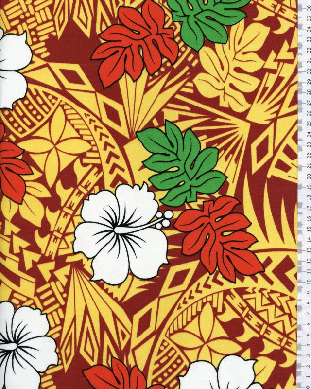 Polynesian Fabric IMIRAU Brown - Tissushop