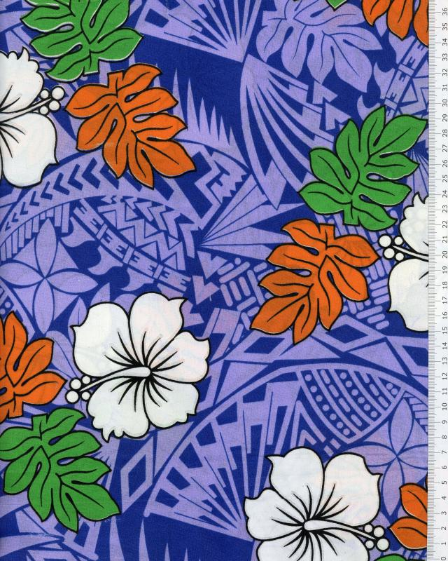 Polynesian Fabric IMIRAU Purple - Tissushop