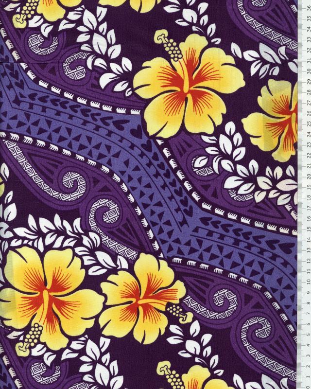 Polynesian Fabric MIAMO Purple - Tissushop