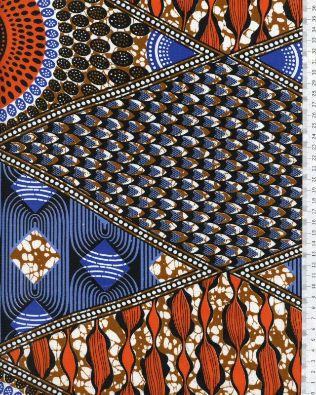Tissu Polynésien NAHEITI Rouge - Tissushop