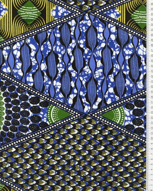 Tissu Polynésien NAHEITI Bleu - Tissushop