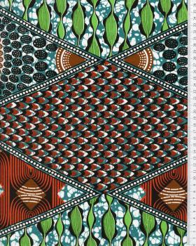 Tissu Polynésien NAHEITI Vert - Tissushop