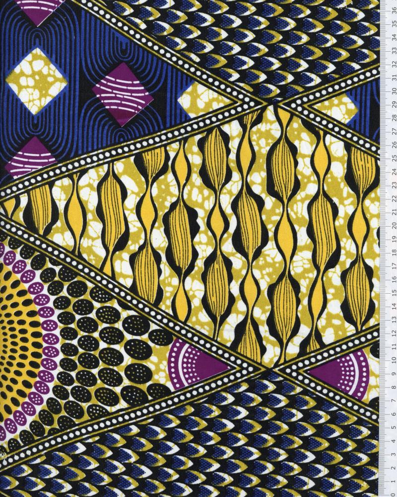 Polynesian Fabric NAHEITI Yellow - Tissushop