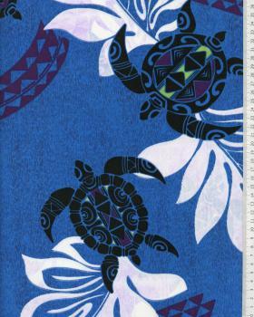 Polynesian Fabric WAILANI Blue - Tissushop
