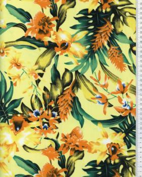 Tissu Polynésien WAIMEA Jaune - Tissushop