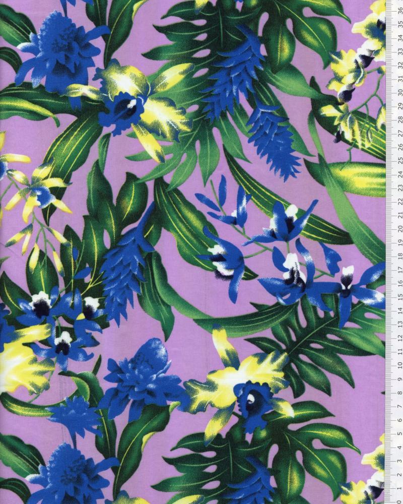 Polynesian Fabric WAIMEA Purple - Tissushop