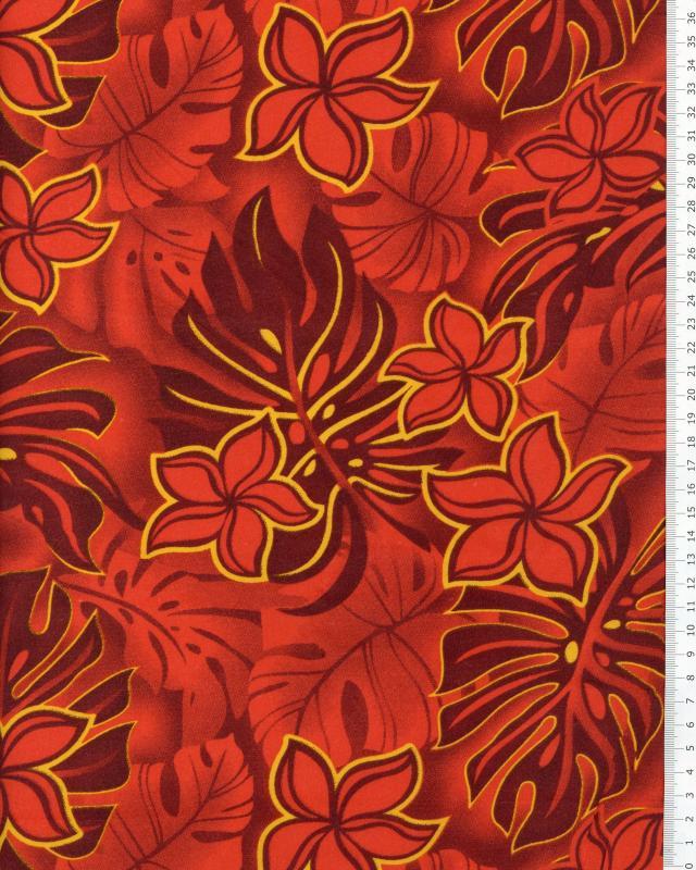 Polynesian Fabric WOA Red - Tissushop