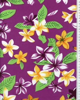 Tissu Polynésien WEHI Violet - Tissushop