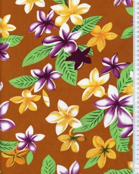 Tissu Polynésien WEHI Ocre - Tissushop