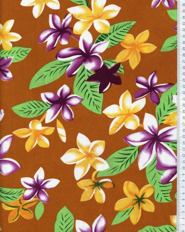 Polynesian Fabric WEHI Ochre - Tissushop
