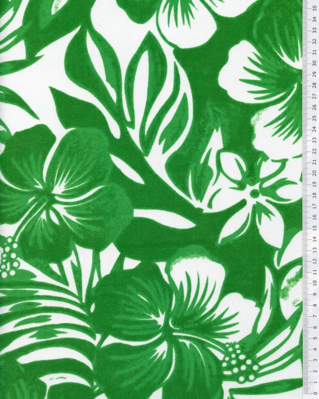 Tissu Polynésien WAILELE Vert Spring - Tissushop