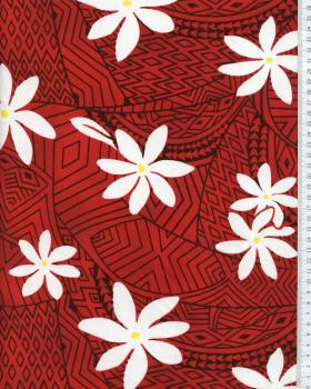 Polynesian Fabric WEKIU Red - Tissushop