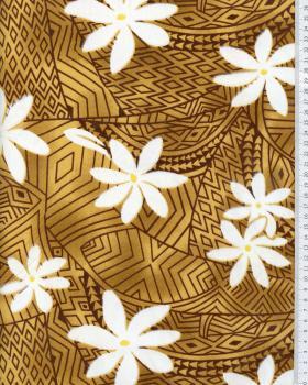 Polynesian Fabric WEKIU Ochre - Tissushop