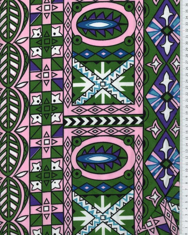 Tissu Polynésien OEA Bleu Turquoise - Tissushop