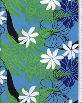 Tissu Polynésien ORIATA Bleu - Tissushop