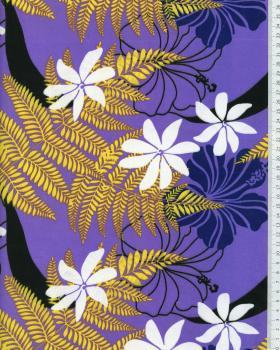 Tissu Polynésien ORIATA Violet - Tissushop