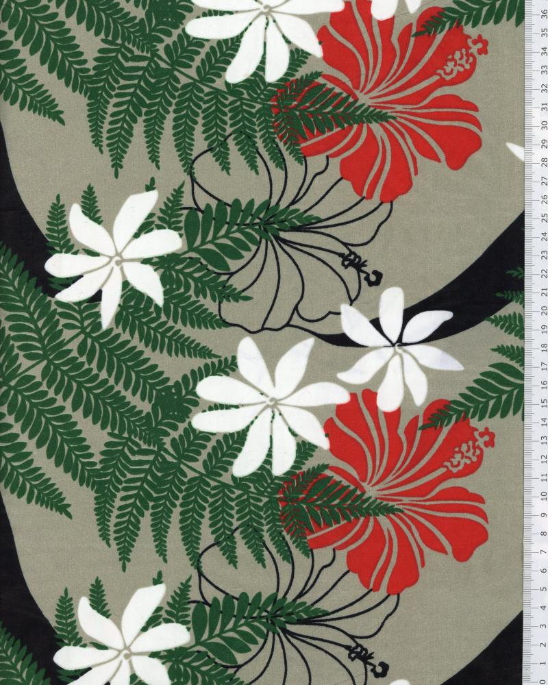 Polynesian Fabric ORIATA Grey - Tissushop