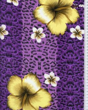 Polynesian Fabric OVIRI Purple - Tissushop