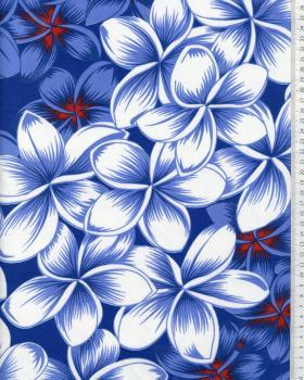Tissu Polynésien ORAVA Bleu - Tissushop
