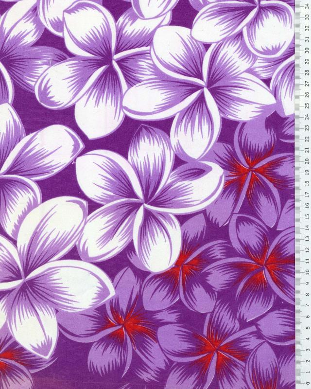Tissu Polynésien ORAVA Violet - Tissushop