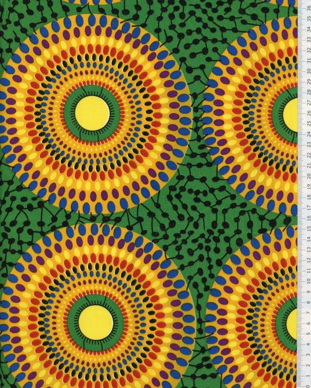 Polynesian Fabric PAORA Emerald Green - Tissushop