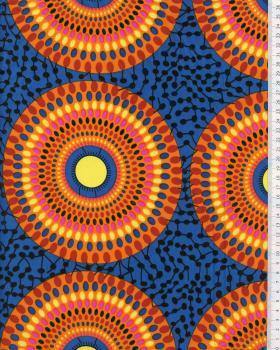 Tissu Polynésien PAORA Bleu - Tissushop