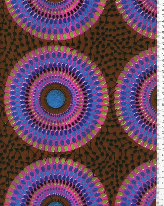 Polynesian Fabric PAORA Brown - Tissushop