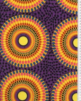 Tissu Polynésien PAORA Violet - Tissushop