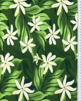 Polynesian Fabric KAEO Green - Tissushop