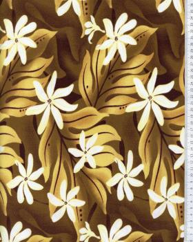 Tissu Polynésien KAEO Marron - Tissushop