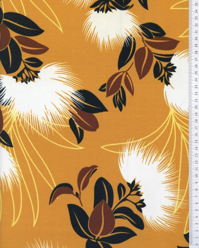 Polynesian Fabric KAEMI Yellow - Tissushop