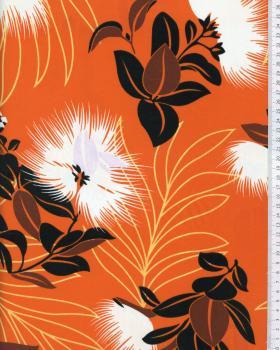 Tissu Polynésien KAEMI Orange - Tissushop