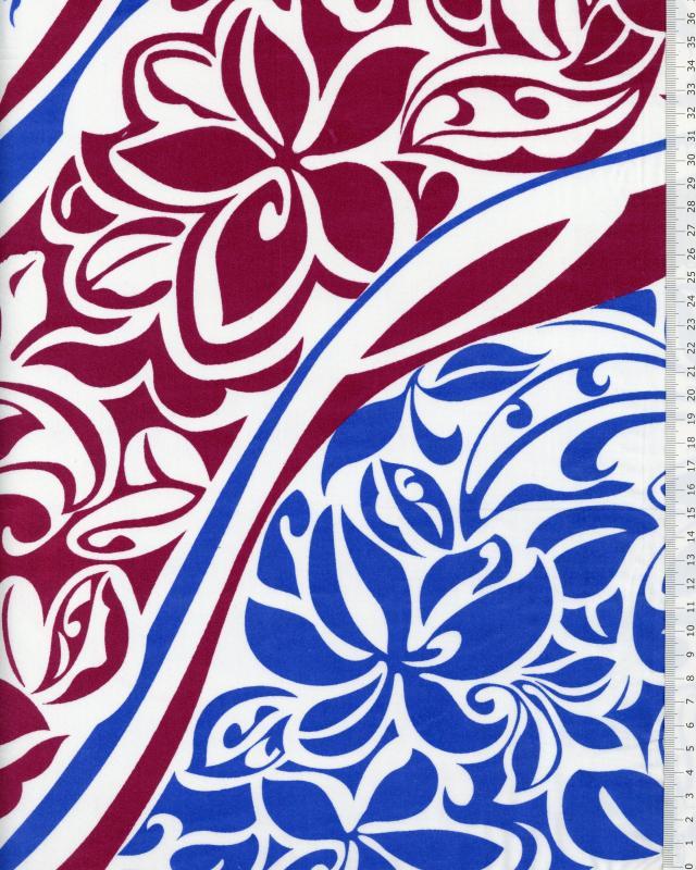 Polynesian Fabric KAIPO Bordeaux - Tissushop