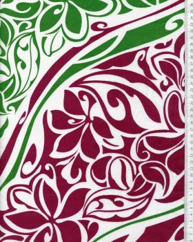 Tissu Polynésien KAIPO Vert - Tissushop