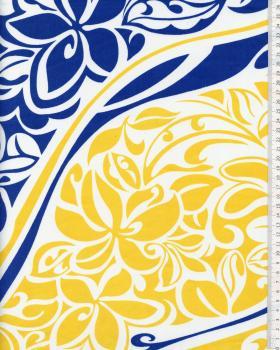 Tissu Polynésien KAIPO Jaune - Tissushop