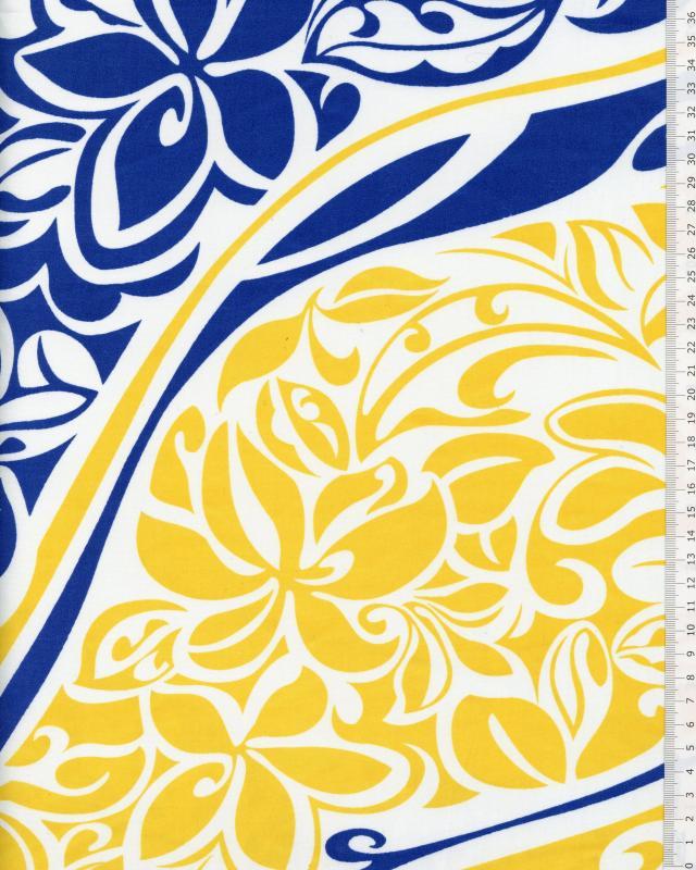 Polynesian Fabric KAIPO Yellow - Tissushop