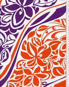 Tissu Polynésien KAIPO Violet - Tissushop