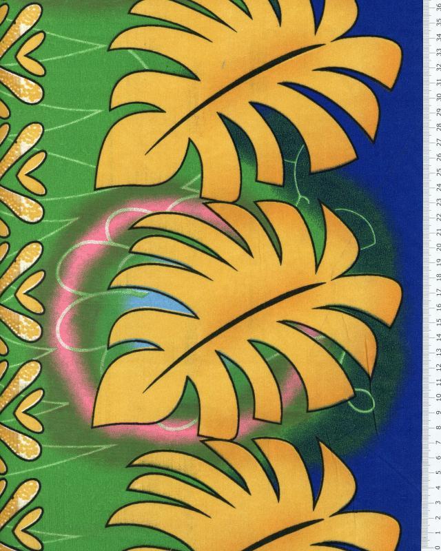Tissu Polynésien KALANI Bleu - Tissushop