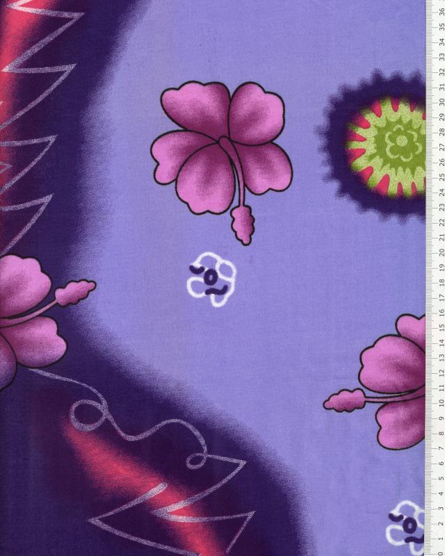 Tissu Polynésien KALANI Violet - Tissushop