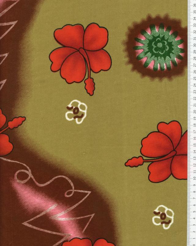 Polynesian Fabric KALANI Ochre - Tissushop