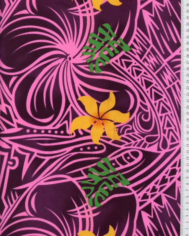 Polynesian Fabric KAIMI Purple - Tissushop