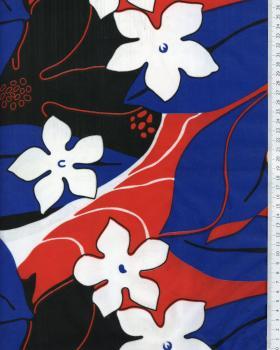 Tissu Polynésien KAHA Rouge - Tissushop