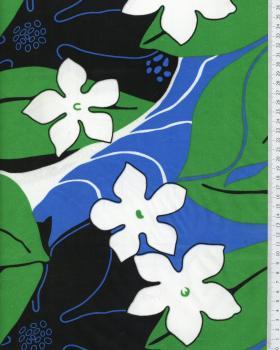 Tissu Polynésien KAHA Bleu - Tissushop