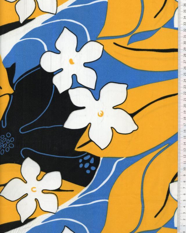 Polynesian Fabric KAHA Turquoise Blue - Tissushop