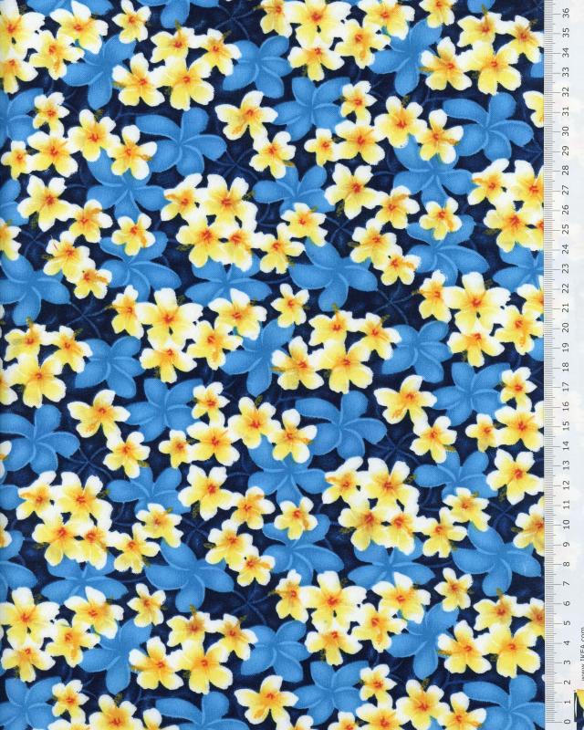 Polynesian Fabric KAEO Blue - Tissushop